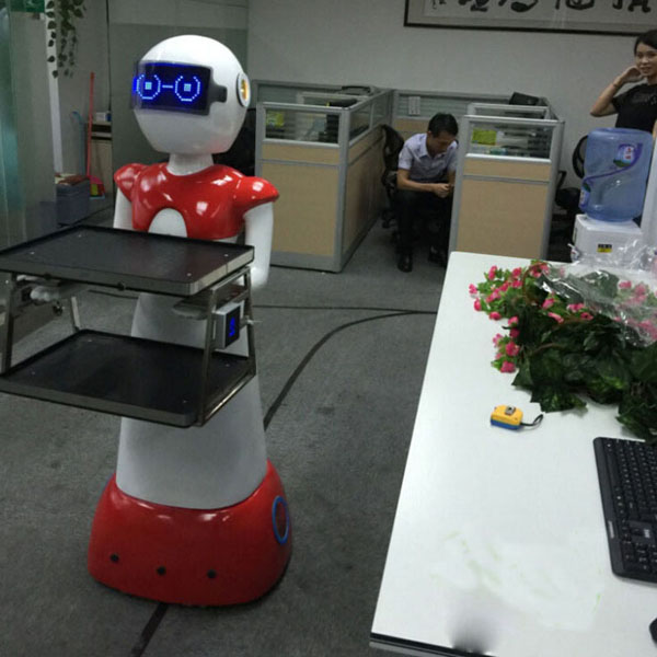 Remote Control Restaurant Intelligent Dishes Delivery Robot Waiter